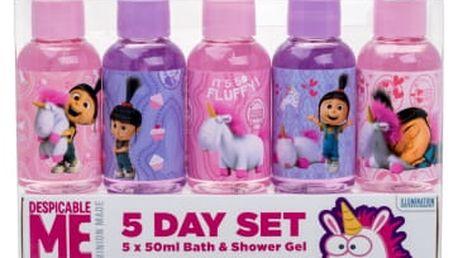 Minions Unicorns dárková kazeta sprchový gel 5x 50 ml