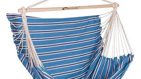 Houpačka Spokey BENCH DELUXE sedátko pro dva, do 160 kg, modré pruhy, barevný mix modrý + Doprava zdarma