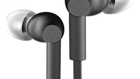 Sluchátka do uší s mikrofonem a plochým kabelem (3,5mm)