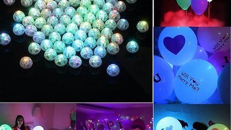 LED svítící kuličky - 50/100 kusů