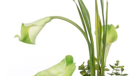 Bílo zelená kala, umělá v misce