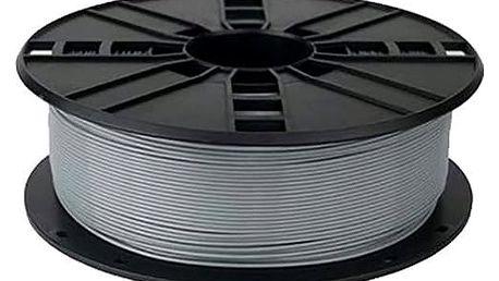 Gembird tisková struna (filament), PLA, 1,75mm, 1kg, stříbrná - 3DP-PLA1.75-01-S