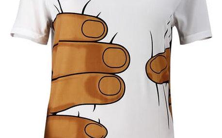 Zeštíhlující pánské tričko s rukou