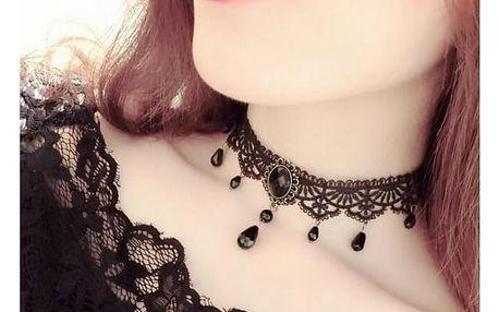 Choker náhrdelník v černé barvě