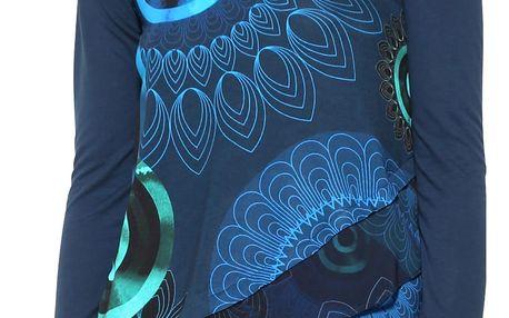 Desigual modré dámské tričko Kohl