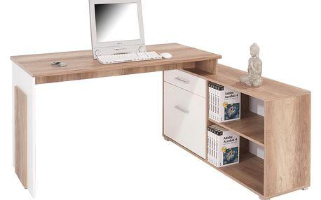 Rohový psací stůl ludwig, 169/76/130 cm