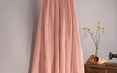 Vzdušná lněná sukně ve všech barvách - růžová