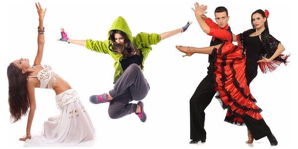 7 libovolných lekcí tance a cvičení v Praze