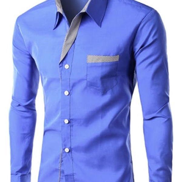 Pánská formální košile s dlouhým rukávem - 3 - velikost 6