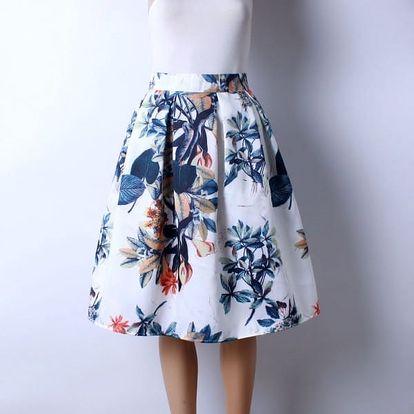 Skládaná delší sukně s různými vzory - 19