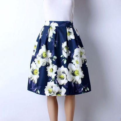Skládaná delší sukně s různými vzory - 12