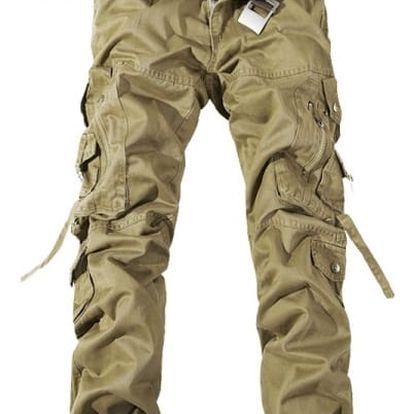 Pánské kalhoty s kapsami - Khaki - 12