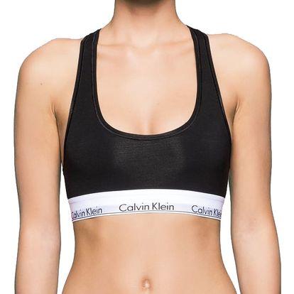 Podprsenka Calvin Klein Bralette černá sportovní