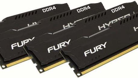Kingston HyperX Fury Black 16GB (4x4GB) DDR4 2133 CL 14 - HX421C14FBK4/16