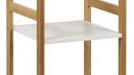 Regál DR-013-5 (bambus lakovaný / police bílá)