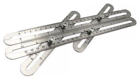 Posuvné čtyřstranné měřítko pro kutily