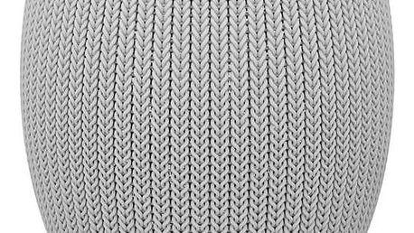 Stolek Keter Knit single šedý