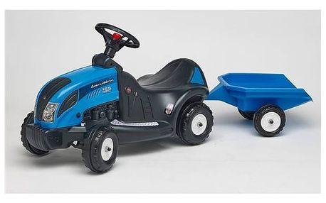 Odrážedlo plastové FALK - traktor Landini 165 s volantem a valníkem plast