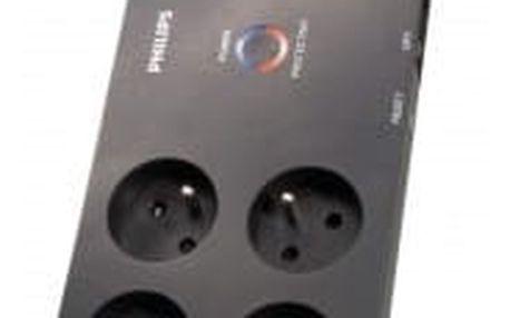 Philips P54030, přepěťová ochrana 8 zásuvek, 3m, 3600J