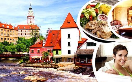 Český Krumlov - romantický wellness pobyt na 3 nebo 6 dní v Penzionu Lavenderpro 2 osoby s polopenzí - snídaněmi a domácí večeří a s balíčkem wellness procedur. Čeká Vás relaxační masáž, voňavá bylinková koupel a zábal pro oba. Nechte se hýčkat a odpočiň