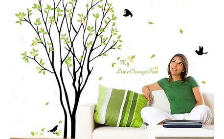 Samolepka na zeď se stromem a ptáčky