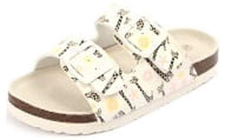 Dětské pantofle COMFORT STEP s koženou stélkou Žirafka