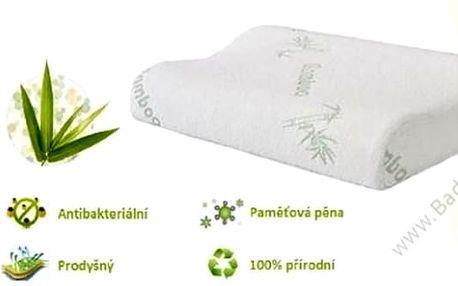 Zdravotně anatomický polštář z paměťové pěny a s bambusovým vláknem. Dopřejte své krční páteři opravdové pohodlí. Polštář má také hypoalergenní a antibakteriální vlastnosti.