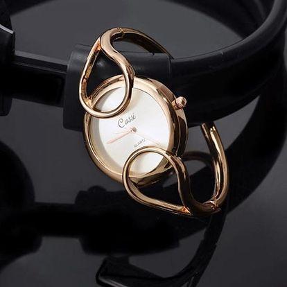 Náramkové hodinky s pevným náramkem