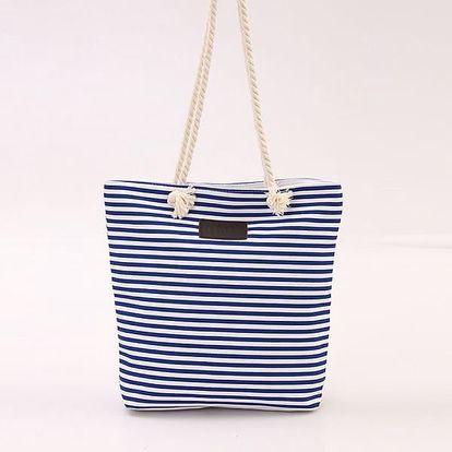 Pruhovaná taška s lanovými uchy - 4 barvy