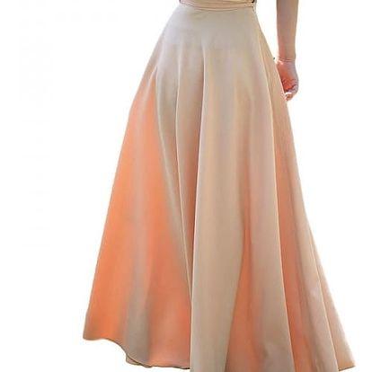 Elegantní maxi sukně s tkaničkou - 2 barvy