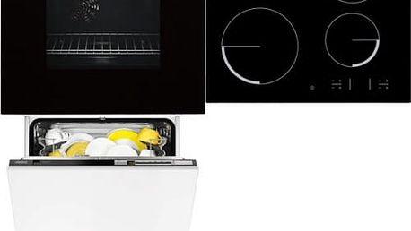 Set (Myčka nádobí Zanussi ZDT26001FA) + (Sklokeramická varná deska Zanussi Avanti ZEV6340FBA) + (Trouba Zanussi ZOB442X)