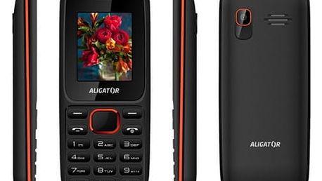 Mobilní telefon Aligator D200 Dual Sim (AD200BR) černý/červený