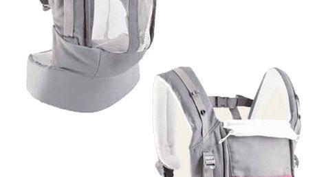 JPMBB Ergonomické nosítko PhysioCarrier PU – šedá/růžová