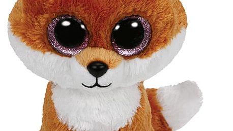 TY Beanie Boos Slick - hnědá liška – (15 cm)