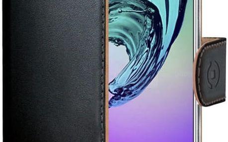 CELLY Wally pouzdro pro Samsung Galaxy A5 (2016), PU kůže, černá - WALLY535
