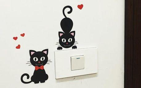 Samolepka nad vypínač v podobě roztomilé kočky