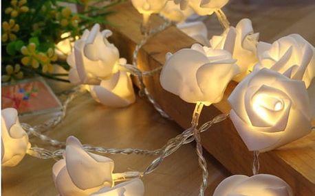 Dekorační světýlka ve tvaru růží