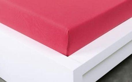 XPOSE ® Jersey prostěradlo Exclusive dvoulůžko - malinová 160x200 cm