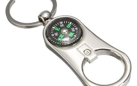 Kompas na klíče s otvírákem - dodání do 2 dnů