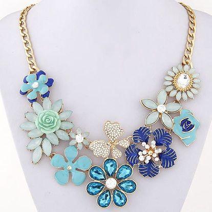 Výrazný náhrdelník s květinovými motivy - 4 varianty