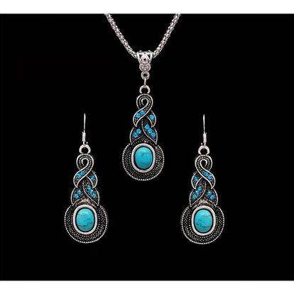 Sada šperků s tyrkysovými kameny