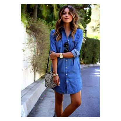 Košilové šaty s džínovým motivem - velikost 4