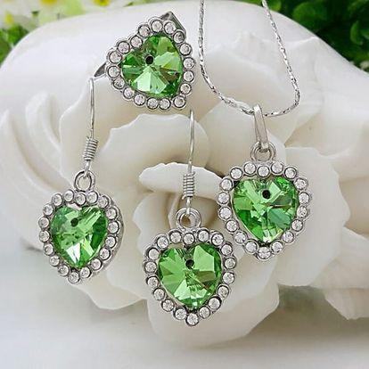Sada šperků - náušnice, náhrdelník, prsten