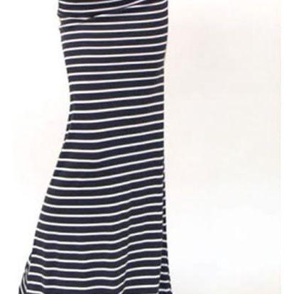 Dámská maxi sukně s pruhy