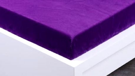 XPOSE ® Prostěradlo mikroflanel Exclusive dvoulůžko - tmavě fialová 180x200 cm0x200