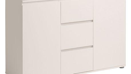 Komoda 3 zásuvky + 2 dveře NUOVO bílá