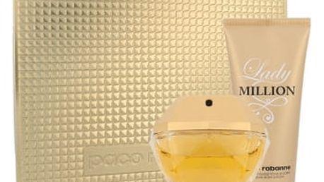 Paco Rabanne Lady Million dárková kazeta pro ženy parfémovaná voda 80 ml + tělové mléko 100 ml