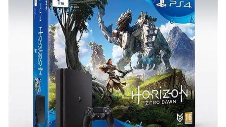 Herní konzole Sony PlayStation 4 SLIM 1TB + Horizon Zero Dawn (PS719837961) černá Gamepad Sony Dual Shock 4 pro PS4 v2 - černý (zdarma) + Doprava zdarma