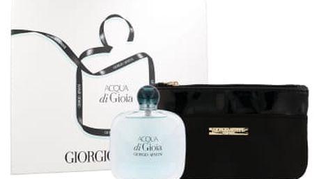 Giorgio Armani Acqua di Gioia dárková kazeta pro ženy parfémovaná voda 100 ml + kosmetická taška