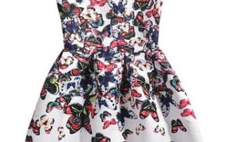 Nádherné dámské vintage šaty s různými motivy - Varianta 16, velikost 4